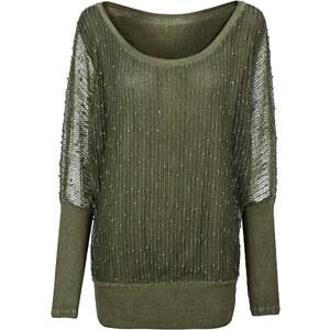 BODYFLIRT Shirt langarm in grün (Rundhals) für Damen von bonprix