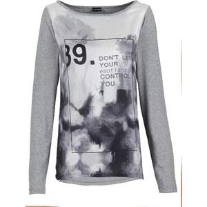 BODYFLIRT Shirt langarm in grau für Damen von bonprix