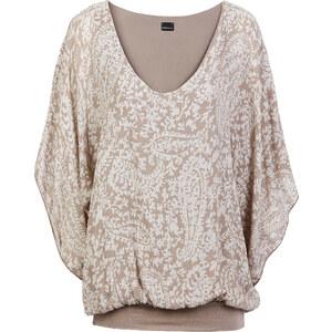 BODYFLIRT Shirt kurzer Arm in beige (Rundhals) für Damen von bonprix