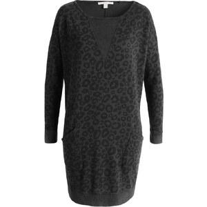 Esprit Leo-Print-Sweatkleid aus 100% Baumwolle