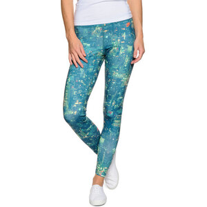 Nike City Print Leggings blau/grün