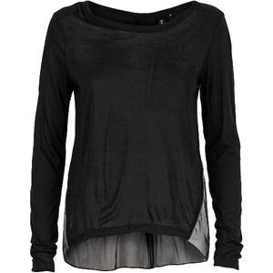 RAINBOW Pullover langarm in schwarz (Rundhals) für Damen von bonprix