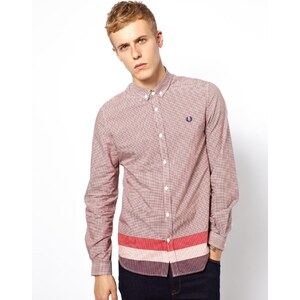 Fred Perry Shirt in Check with Trim