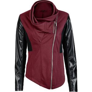 BODYFLIRT boutique Sweatjacke langarm in rot für Damen von bonprix