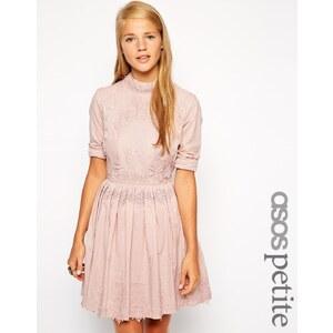 ASOS PETITE - Exklusives Premium-Skaterkleid mit Spitzenstickerei - Rosa 31,99 €
