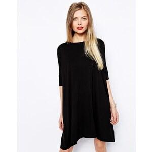 ASOS - Kurzärmliges T-Shirt-Kleid - Schwarz