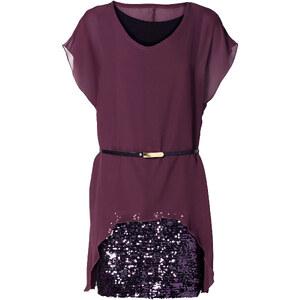 RAINBOW Shirtkleid/Sommerkleid kurzer Arm in lila (Rundhals) von bonprix