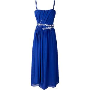 BODYFLIRT Abendkleid ohne Ärmel figurbetont in blau von bonprix