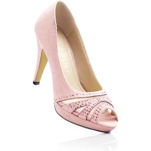 BODYFLIRT Peeptoepumps mit 10 cm High-Heel in rosa von bonprix