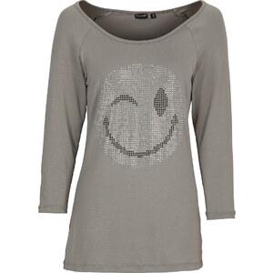 BODYFLIRT Shirt 3/4 Arm in grau (Rundhals) für Damen von bonprix