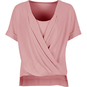BODYFLIRT Bluse in rosa von bonprix