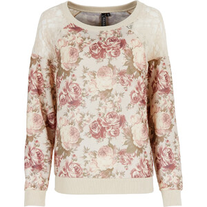 RAINBOW Sweatshirt langarm in rosa (Rundhals) für Damen von bonprix