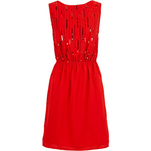 BODYFLIRT Kleid in rot von bonprix