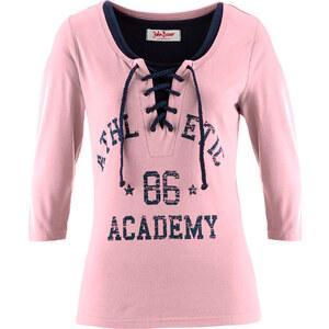 John Baner JEANSWEAR Top + Shirt (2-teiliges Set), 3/4-Arm in rosa für Damen von bonprix