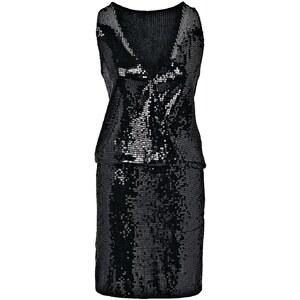 CONLEYS BLACK Kleid, Pailletten, Wickeloptik