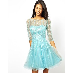 Forever Unique Prom Dress with 3/4 Sleeves