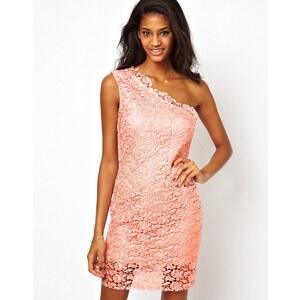 Forever Unique One Shoulder Lace Dress