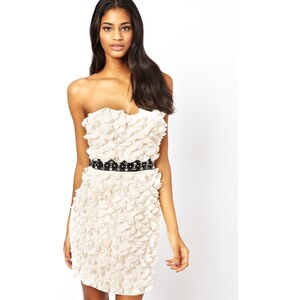 Lipsy Ruffle Detail Strapless Dress