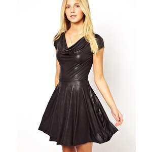 Wal G Dress in Wet Look Fabric