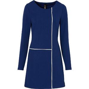 BODYFLIRT boutique Kleid langarm in blau von bonprix