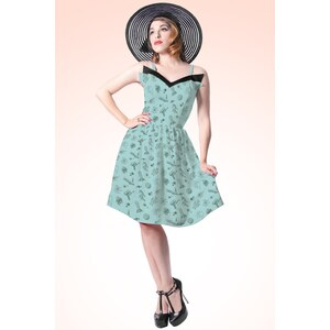 Rock Steady Clothing 50s Space Cadet Dress in Vintage Mint