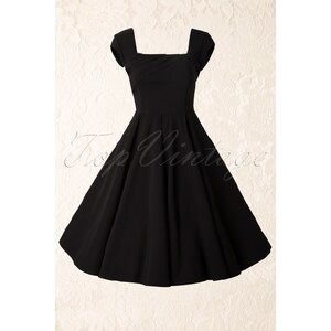 The Pretty Dress Company TopVintage exclusive ~ Cara Swing Dress in Black