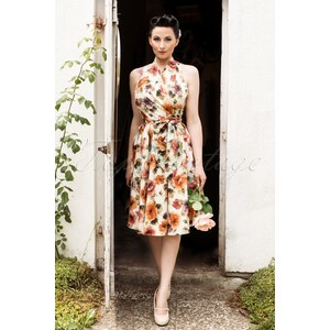 Retrolicious 50s Floral Dream Dress in White