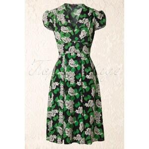 Trashy Diva 1940s Ashley Dress in Vintage Myrtle Print