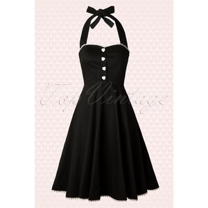 Collectif Clothing 50s Gretel Swing Dress in Black
