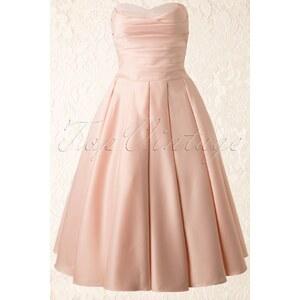 Unique Vintage 50s Princess Dream Dress in Peachy Satin