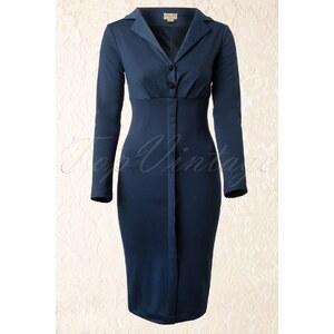 Lindy Bop 50s Brigitte Dress in Slate Blue
