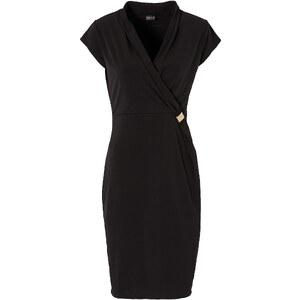 BODYFLIRT Shirtkleid/Sommerkleid kurzer Arm in schwarz von bonprix