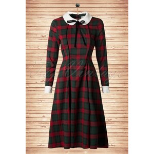 Collectif Clothing 40s Lisa Noelle Check Swing Dress
