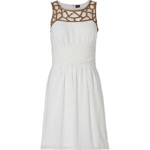 BODYFLIRT Kleid in weiß (U-Boot-Ausschnitt) von bonprix