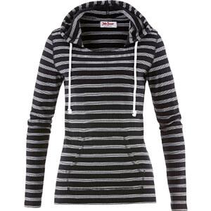 John Baner JEANSWEAR Kapuzenshirt, langarm in schwarz für Damen von bonprix