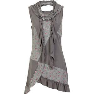 RAINBOW Top mit Schal ohne Ärmel in grau für Damen von bonprix