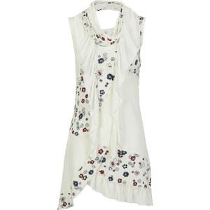 RAINBOW Top mit Schal ohne Ärmel in weiß für Damen von bonprix