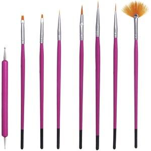 Beauty Extras Bürsten für Nagellackkunst im Set x 8 - Nail Art