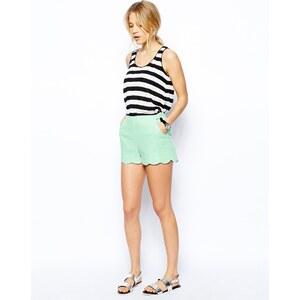 ASOS - Shorts aus Leinen mit Muschelsaum - Hellblau 9,99 €