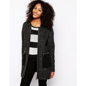 Vero Moda - Mantel mit Reißverschlusstasche - Grau