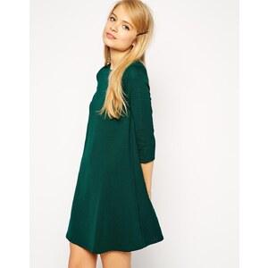 ASOS - Schwingendes Kleid mit 3/4-Ärmeln, strukturiert - Schwarz 15,99 €
