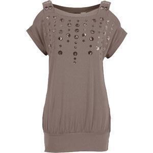 Shirt kurzer Arm in rosa (Carré-Ausschnitt) für Damen von bonprix