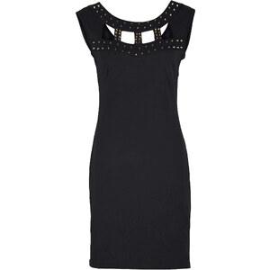 BODYFLIRT Shirtkleid/Sommerkleid ohne Ärmel in schwarz von bonprix