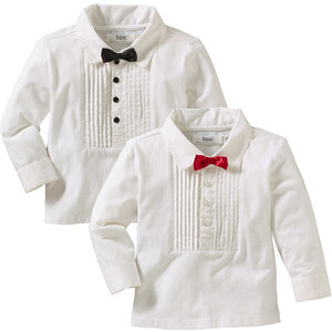 bpc bonprix collection Baby Langarmshirt (2er-Pack) in weiß für Herren von bonprix