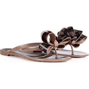Valentino PVC/Lace Bow Sandals