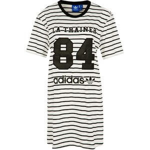 adidas Originals NUMBERS Jerseykleid black/core white striped