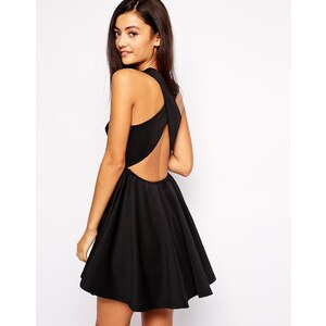 Jovonna - Peekaboo - Kleid mit gekreuzten Rückenträgern - Schwarz