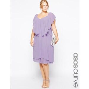 ASOS CURVE - Exklusives, langes Kleid mit Rüschen - Schwarz 25,99 €