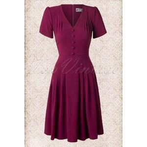 Bunny 40s Moira Dress in Raspberry Red