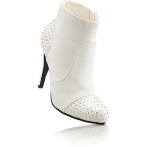 BODYFLIRT Stiefelette in weiß für Damen von bonprix